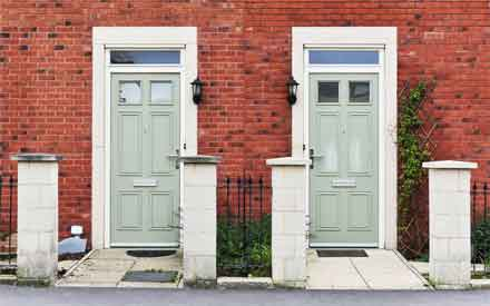 History And Origin of Two Front Doors