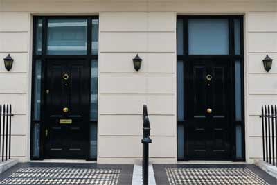 Some explanations of two front doors