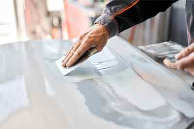 Use of wet sanding for car paint