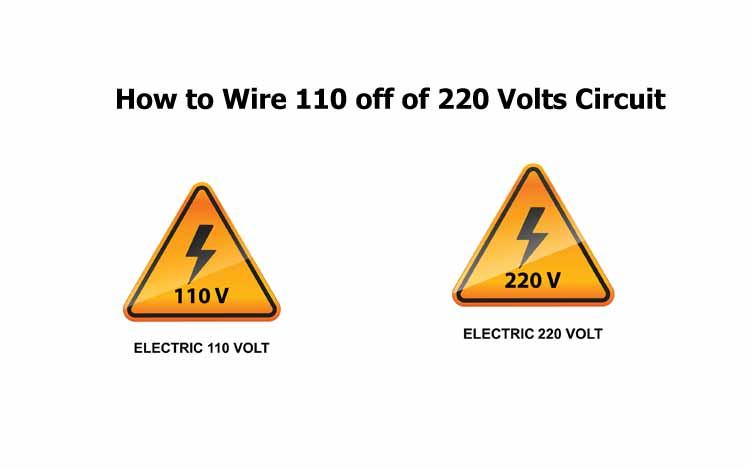 How to Wire 110 off of 220 Volts Circuit
