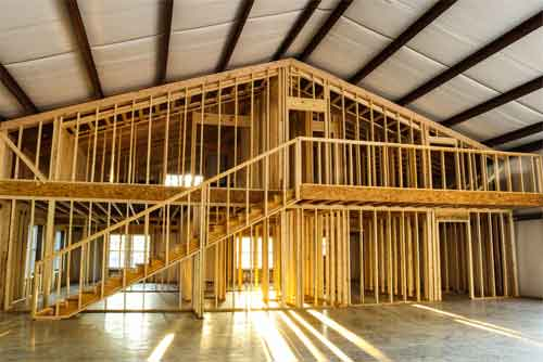 How to insulate the pole building ceiling