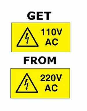 What are the ways to wire 110 off of 220V
