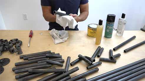 Clean Black Iron Pipe