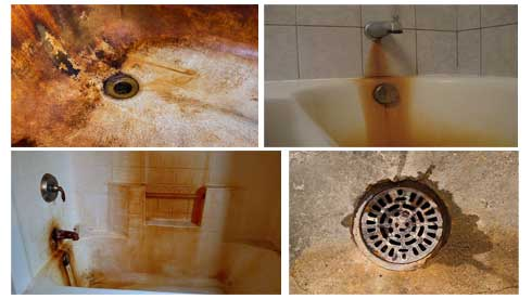 The Types of Rust Stains in the Shower