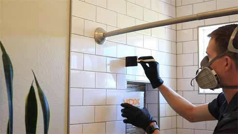 Vertical grout lines